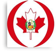 Peruvian Canadian Multinational Patriot Flag Series Canvas Print