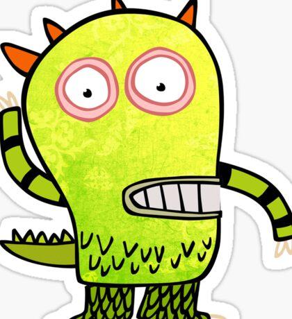 Fun Monster Zombie Graphic Sticker
