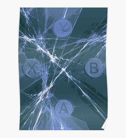XBox Controller Teal Poster