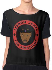 LeBron James For President Chiffon Top