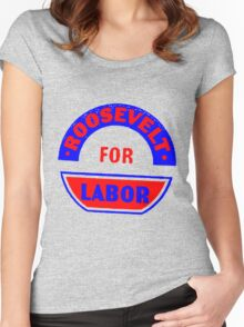 FDR FOR LABOR Women's Fitted Scoop T-Shirt