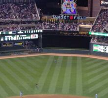 Target Field at Night Sticker
