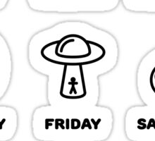 Lost in space, weekly routine Sticker