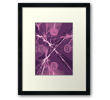 XBox Controller  Purple Framed Print