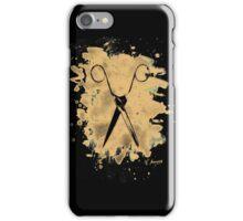 Scissors - bleached natural iPhone Case/Skin