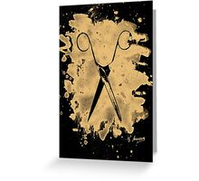 Scissors - bleached natural Greeting Card