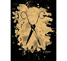 Scissors - bleached natural Photographic Print