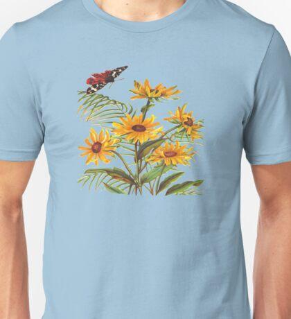 Vintage Flower Garden Unisex T-Shirt