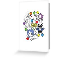Undertale Sketches Greeting Card