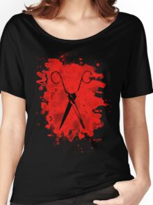 Scissors - bleached red Women's Relaxed Fit T-Shirt