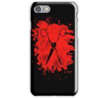 Scissors - bleached red iPhone Case/Skin