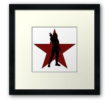 Winter Soldier Silhouette  Framed Print