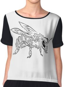 """Bee Spirit"" ver.1 - Surreal abstract tribal bee totem animal Chiffon Top"
