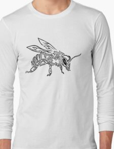 """Bee Spirit"" ver.1 - Surreal abstract tribal bee totem animal Long Sleeve T-Shirt"