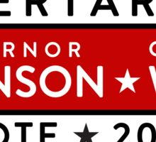 Johnson / Weld: Vote Libertarian 2016 Sticker