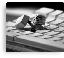 Stormtrooper Keyboard Canvas Print