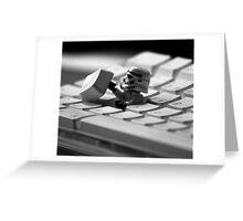 Stormtrooper Keyboard Greeting Card