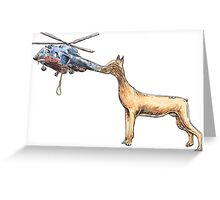 Canine Rotocraft Greeting Card