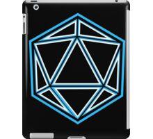 Badass Blue Neon Dice on Black d20 iPad Case/Skin