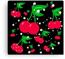 Bunches of Cherries Canvas Print