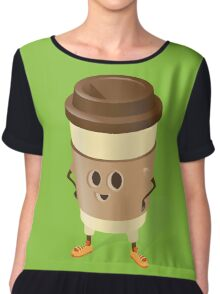 Happy Caffee Chiffon Top