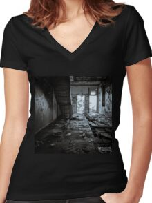 Abandoned and Desolate II Women's Fitted V-Neck T-Shirt
