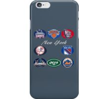 New York Professional Sport Teams Collage  iPhone Case/Skin