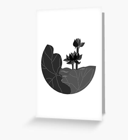 Single Colored Lotus Greeting Card