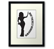 May The Best Woman Win Silhouette Framed Print