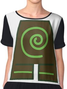 Earth Bender Symbol (Colour) Chiffon Top