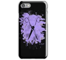 Scissors - bleached violet iPhone Case/Skin