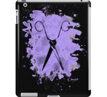 Scissors - bleached violet iPad Case/Skin