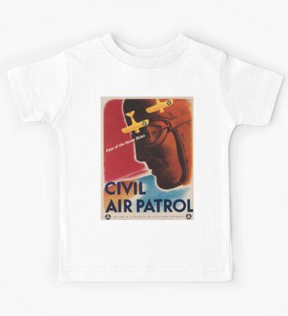 Vintage poster - Civil Air Patrol Kids Tee