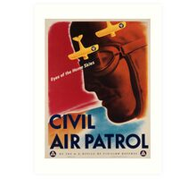 Vintage poster - Civil Air Patrol Art Print