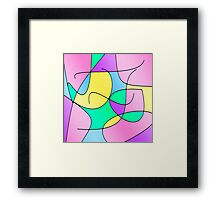 ABSTRACT CURVES-1 (Multicolor Light-3)-(9000 x 9000 px) Framed Print