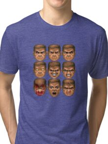 Doom faces Tri-blend T-Shirt
