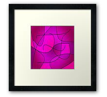ABSTRACT CURVES-1 (Purples, Violets, Fuchsias & Magentas-3)-(9000 x 9000 px) Framed Print