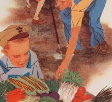 Vintage poster - Victory Garden Sticker