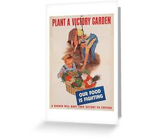 Vintage poster - Victory Garden Greeting Card