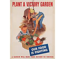 Vintage poster - Victory Garden Photographic Print