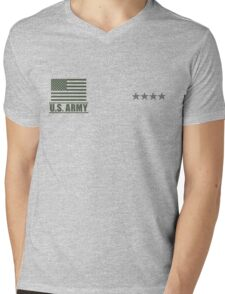General Infantry US Army Rank Desert by Mision Militar ™ Mens V-Neck T-Shirt