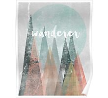 Wanderer Mountains Print Poster