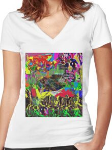 """Self Concept"" Women's Fitted V-Neck T-Shirt"