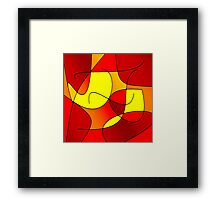 ABSTRACT CURVES-1 (Reds, Oranges & Yellows)-(9000 x 9000 px) Framed Print