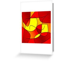 ABSTRACT CURVES-1 (Reds, Oranges & Yellows)-(9000 x 9000 px) Greeting Card