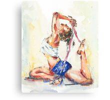 Yoga Watercolor  Canvas Print