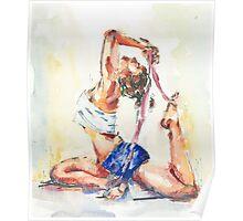 Yoga Watercolor  Poster