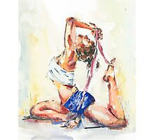 Yoga Watercolor  Photographic Print