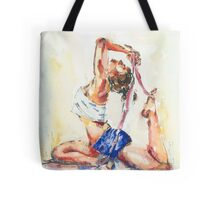 Yoga Watercolor  Tote Bag