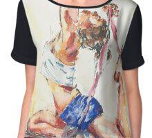 Yoga Watercolor  Chiffon Top